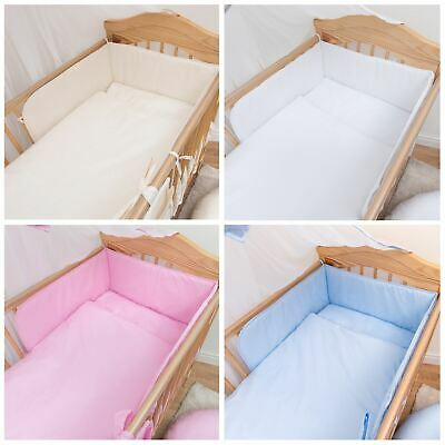 Fit 120x60 Cm Cot Plain White, Plain White Baby Bedding