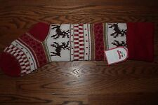 NWT Pottery Barn Kids Classic Fair Isle Christmas Stocking reindeer red