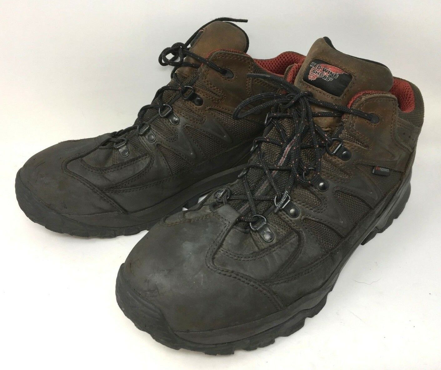 rot WING TruHiker  6672 Aluminum Toe Proof Vibram Slip Res Work Stiefel Mens 14 D