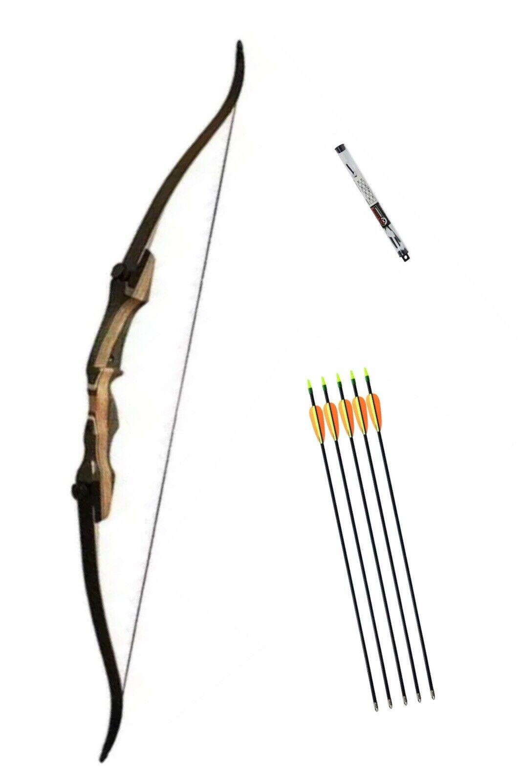 """Samick Sage Take Down Recurve Bow. 62"""" Length 45lb Draw. RH. Free Arrows & P&P"""
