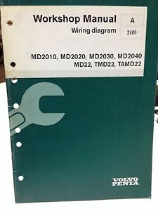 volvo penta workshop manual wiring diagram p n 7740536 dbx2 ebay rh ebay co uk
