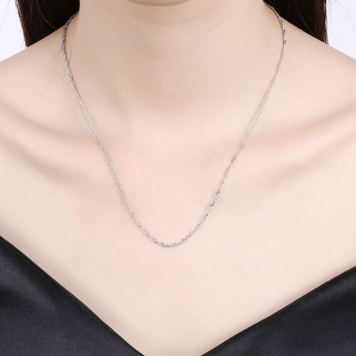 3 Colors Wholesale 18K Gold Plated GP Singapore Twisted Chain Necklace 20/'/'