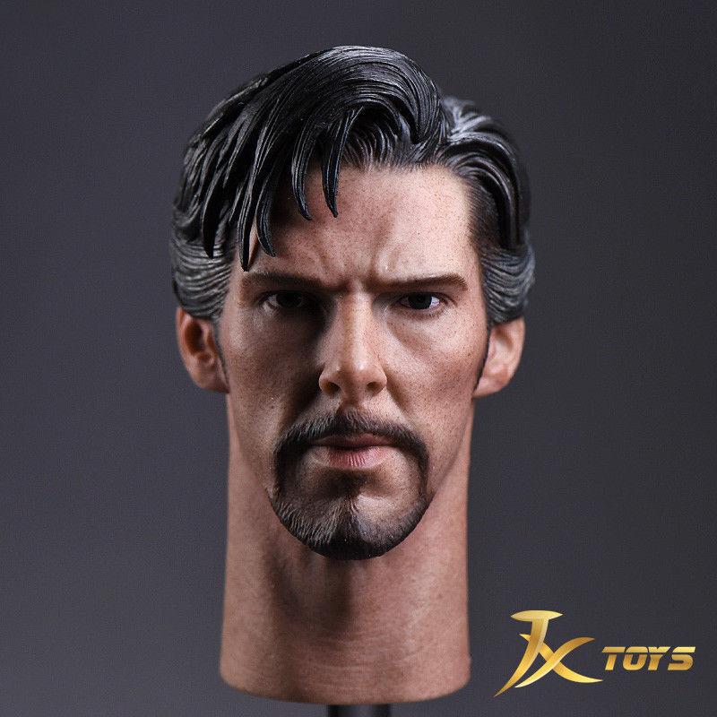 1 6 JXTOYS JX-011 Battle Damage Damage Damage Ver. Doctor Strange Benedict Head Sculpt Model 7e4c4f