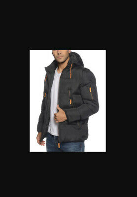 Men/'s Designer Parka Jacket Hooded Camouflage Puffer Padded Winter Warm