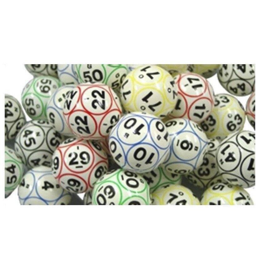 Bingo bolas Color & recubierto 12 Lados Impresión Tamaño De Ping Pong