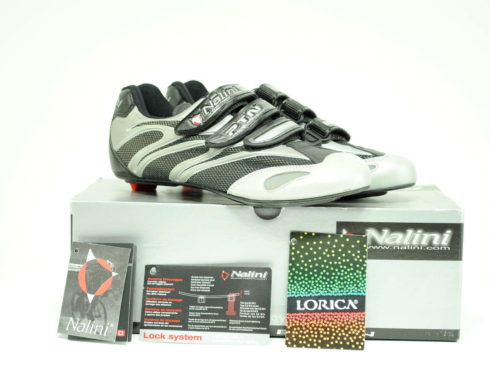 Nalini 270 Grams Carbon Fiber Sole Road Bike  shoes Size 40  sell like hot cakes