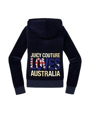 JUICY COUTURE DESTINATIONS LOVES AUSTRALIA REGAL VELOUR HOODIE S 8 10 £130!