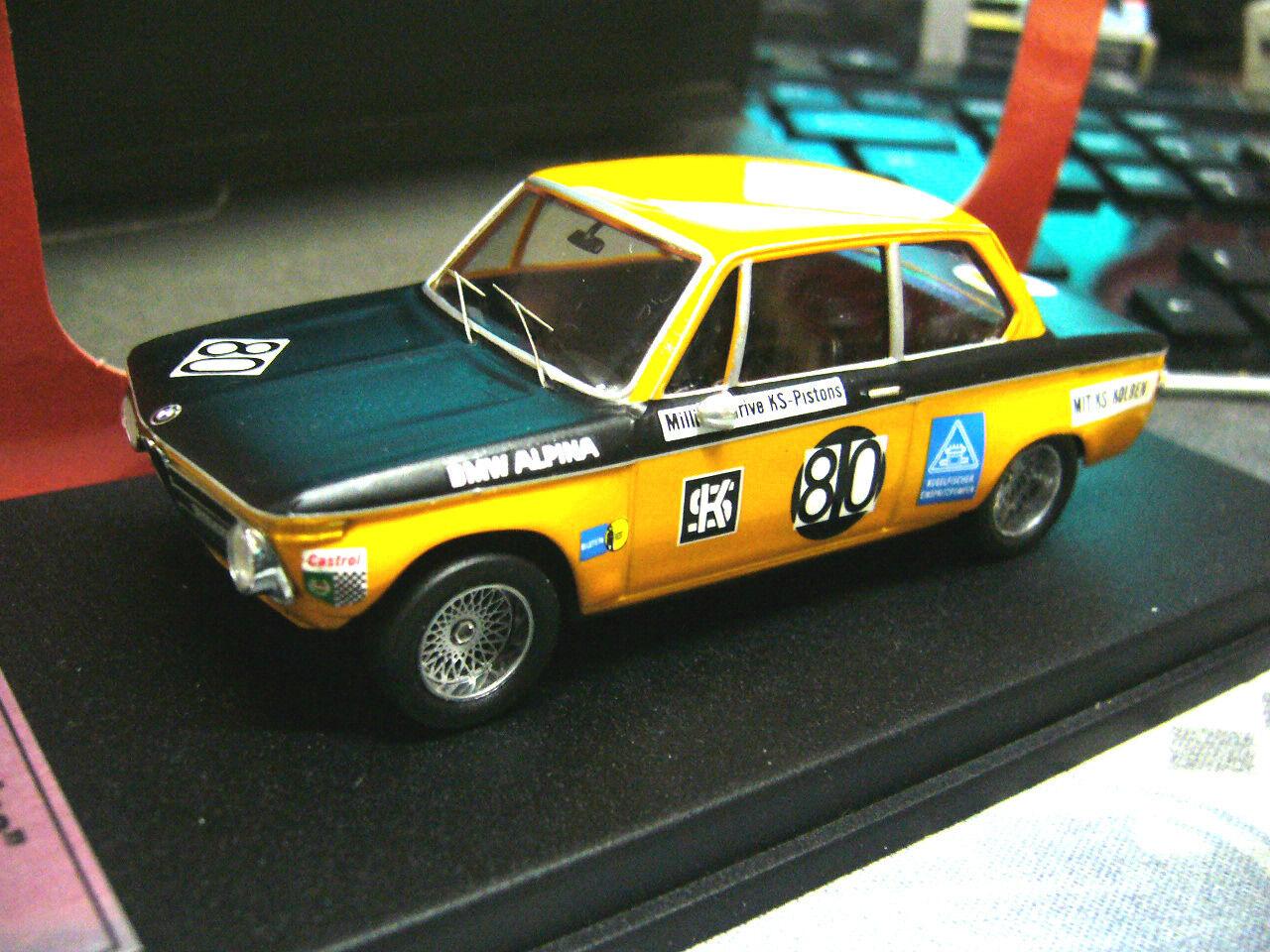 BMW 2002 1600 ti ALPINA Brno 1969  80 Huber treser rare 1 100 scala 43 1 43