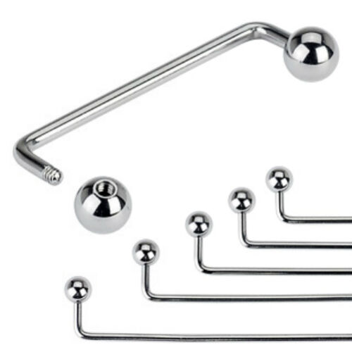 One 316L Surgical Steel 14 Gauge Staple Surface Barbell