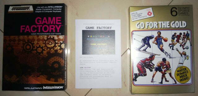 Game Factory box and manual Intellivision prototype reproduction