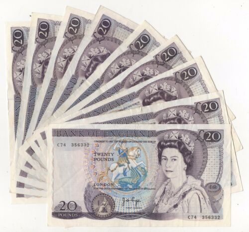 Page Shakespeare £20 Banknote (1970 - 80) In Clean VF+ Condition B328