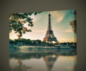 Eiffel Tower Paris CANVAS PRINT Wall Art Decor Giclee City *4 Sizes* CA23