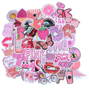 50Pcs-Cartoon-Pink-Girls-Stickers-DIY-Suitcase-Laptop-Guitar-Bicycle-Car-Dec-I2