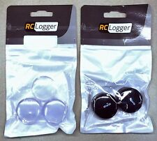 RC Logger Replacement Canopies 3 Clear/2 Black (for RC EYE One) 89032RC/89033RC