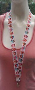 Cupcake-breakaway-safety-lanyard-ID-holder-2-sizes-ID-badges-ribbon-cute-pink