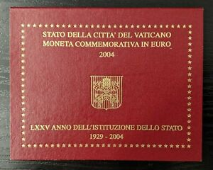 Vatican-Coffret-officiel-2-Euro-2004-Institution-de-l-039-Etat-de-la-Cite-du-Vatican
