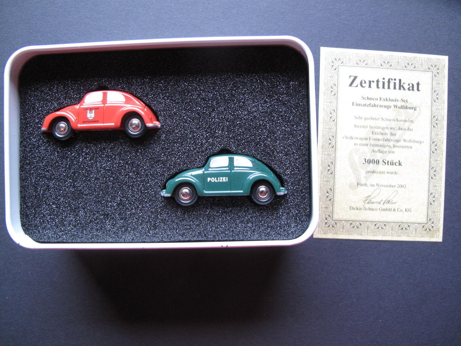 Schuco VW EsCocheabajo Special Edition 2003-policía y bomberos-Edición limitada