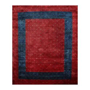 "8'1"" x 9'8"" Hand Knotted 100% Wool Kashkuli Gabeh 250 KPSI Oriental Area Rug Red"