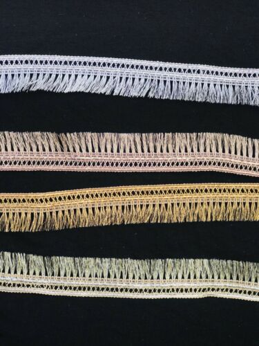 Nuevo Colgante De Lentejuelas tessels magnífico Bordada Kiran Encaje//recorte sólo £ 1.75//metro
