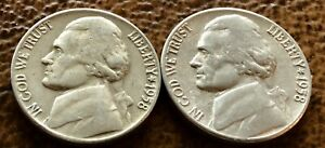 1958 P 1958 D Jefferson Nickels BU Uncirculated