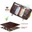 Men-Genuine-Leather-Cowhide-Wallet-Bifold-RFID-Credit-Card-Holder-Zipper-Purse thumbnail 6