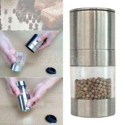 Manual Stainless Steel Salt Pepper Mill Spice Sauce Muller Grinder Kitchen Tool