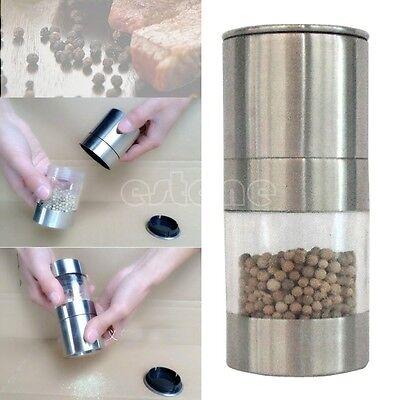 Manual Stainless Steel Salt Pepper Mill Spice Sauce Muller Grinder Kitchen Tool