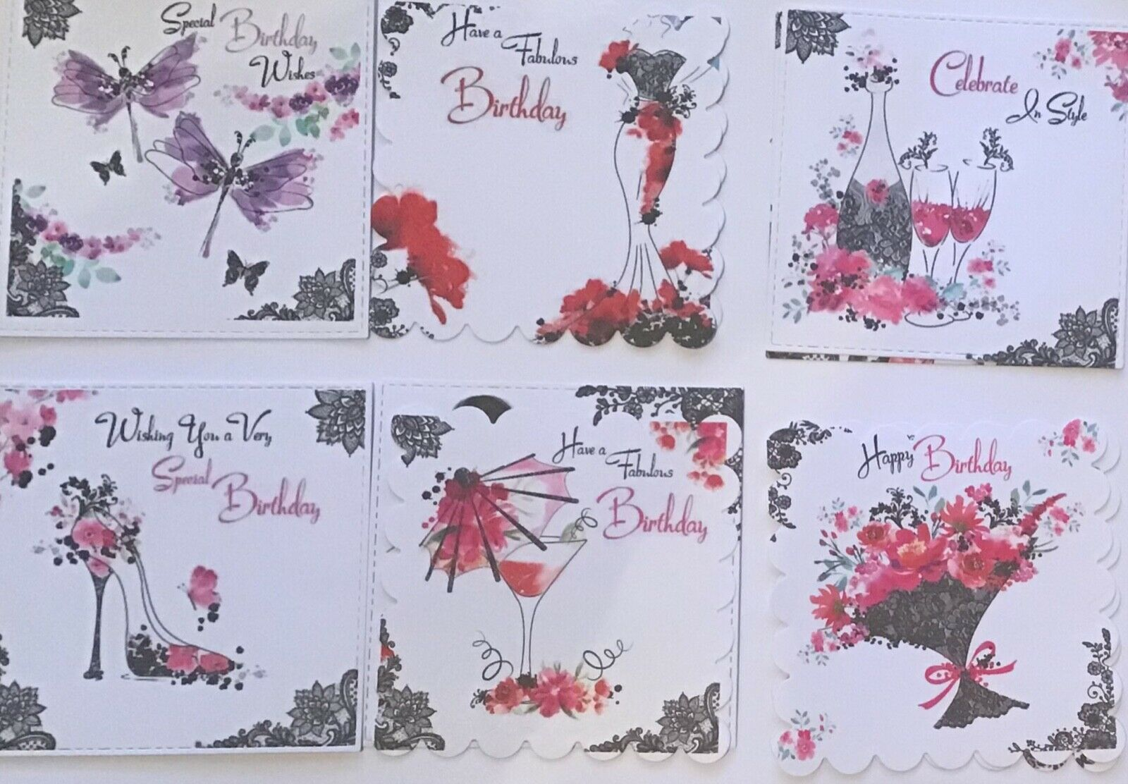 Water colour Boutique Chic Bulk Card Toppers//Scrapbooking Embellishments//