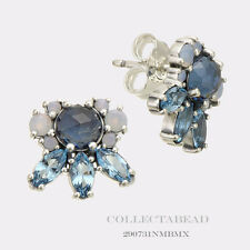 623b703a6 Authentic Pandora Silver Patterns Frost Multi-Color Crystal Earrings  290731NMBMX