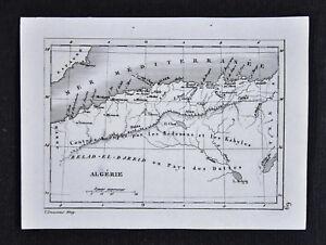 c1835-Levasseur-Map-Algerie-Algeria-Alger-Oran-Constantine-Atlas-Mountains