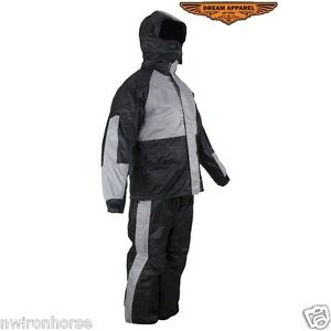 Motorcycle Rain Suit With Hoodie Sizes Small to 4XL New #SALE Unisex RS23-Hood
