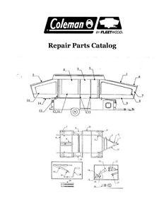 coleman 1995 pop up camper parts and diagram fleetwood popup trailer repair    parts    catalog 2006 scorpion  fleetwood popup trailer repair    parts    catalog 2006 scorpion