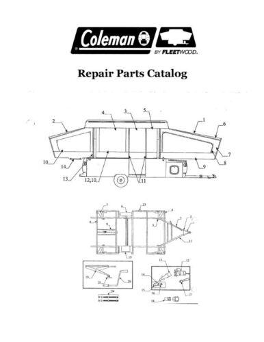 COLEMAN Popup Trailer Repair Parts Catalog-1988 Plantation Series