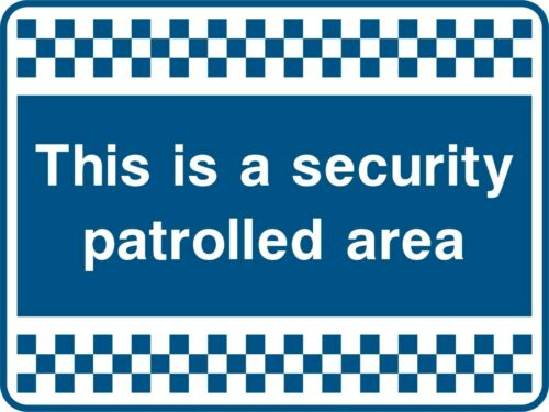 SAFETY SIGN Blue Security Signs Adhesive Waterproof Exterior Vinyl Sticker