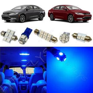 7x Blue Led Lights Interior Package Kit For 2015 And Up Chrysler 200 Rt2b Ebay