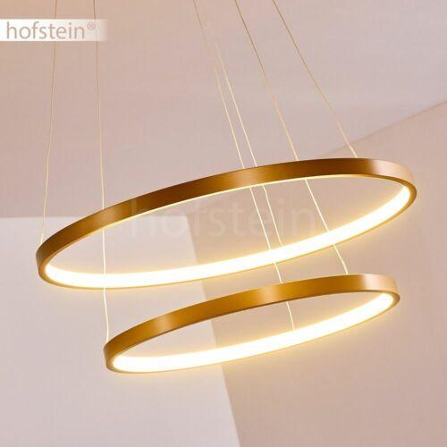 Hänge Leuchte LED Wohn Schlaf Ess Zimmer Beleuchtung goldfarbene Pendel Lampen