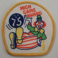 High Game 75 Award Bowling Clown Uniform Patch