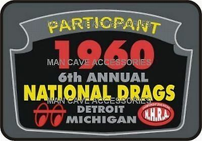1960 Drag Racing Nationals Detroit MI Vinyl Decal Sticker