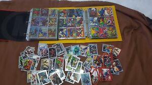 Vintage-marvel-cards-FLAIR-rare-bundle-lot-xmen-spiderman-signature-superman-dc
