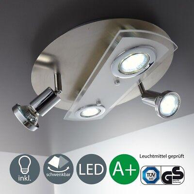 LED Deckenleuchte Decken-Strahler Spots Lampe Leuchte 4-flammig Wohnzimmer Küche