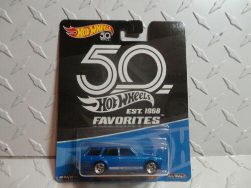 Hot Wheels 50 Years Blue /'71 Datsun Blubird 510 Wagon w//RR/'s