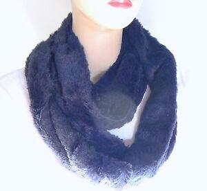 Echarpe SNOOD Fourrure Polaire 2 Tours de cou Bleu 160 cm mode Femme ... 78d5b4b2664