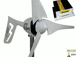 LAND-EDITION-L-500W-12V-Laderegler-WINDGENERATOR-WIND-TURBINE-iSTA-BREEZE-White