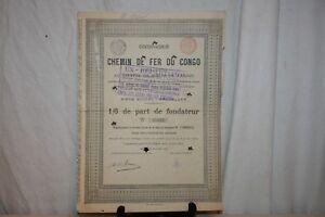 Ancienne Action Compagnie Du Chemin De Fer Du Congo De 1889. Ae20p2ky-07221119-813758597