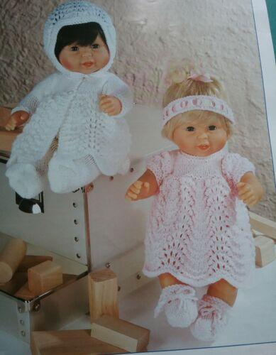 """Tejer patrón para las muñecas ropa Conjunto de 14 /""""pulgadas Muñeca dk 4538"""