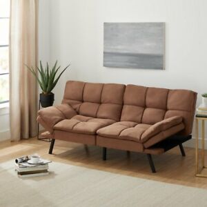 Mainstays Memory Foam Futon Sofa Bed Couch Sleeper Convertible Foldable Loveseat