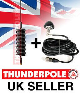 Thunderpole-Mini-Orbitor-Aerial-amp-Body-Mount-Kit-Springer-CB-Radio-Antenna
