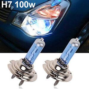 Bombillas-H7-x2-Luz-Blanca-Extrem-12v-100w-tipo-xenon-lamparas-coche-moto
