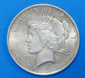 1922 1 Peace Silver Dollar Defective Planchet Error Us