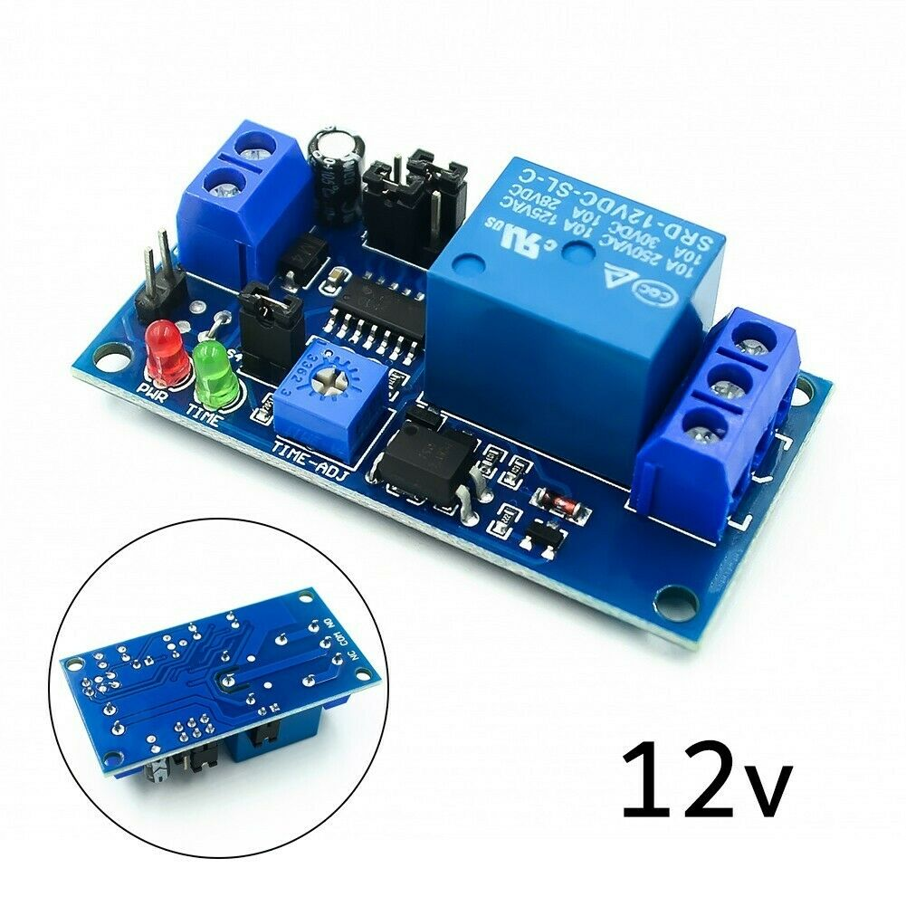 12V DC Delay Adjustable Timer Relay, Delay Turn Off Switch Module Replacement